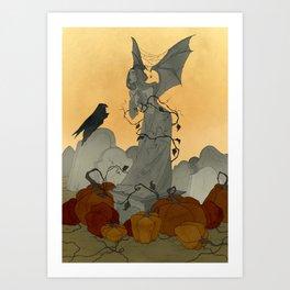 Autumn Cemetery Art Print