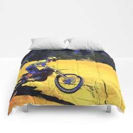 Riding Hard - Moto-x Champion Comforters