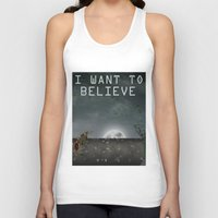 i want to believe Tank Tops featuring I Want To Believe by Conceptualized