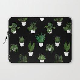 Houseplants Illustration (black background) Laptop Sleeve