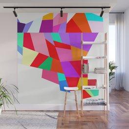 Happy colourful geometric pattern Wall Mural