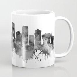 Stamford Connecticut Skyline BW Coffee Mug