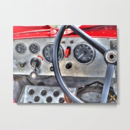 Steering & Dash Metal Print
