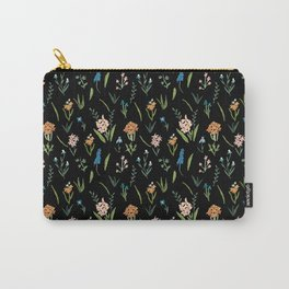 Dark Vintage Botanical Carry-All Pouch