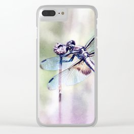 Dragonfly in Pastels Clear iPhone Case