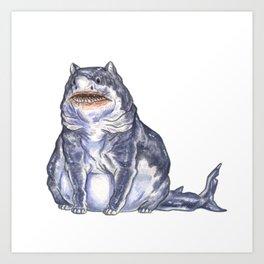 Great White Shark Cat :: Series 1 Art Print