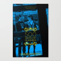 500 days of summer Canvas Prints featuring 500 days of Summer by Lucas Preti