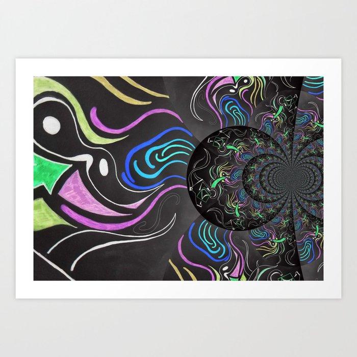 Dark Colour Art Print