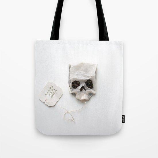 253. Tea Bag Skull Tote Bag