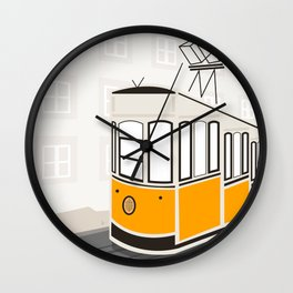 Lisbon, Portugal, Tram, Funicular, Ascensor da Bica Wall Clock