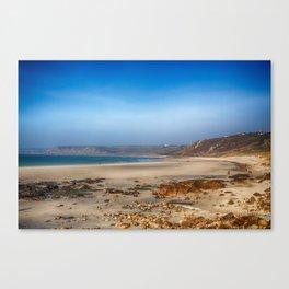 Low tide at Sennen Cove Canvas Print