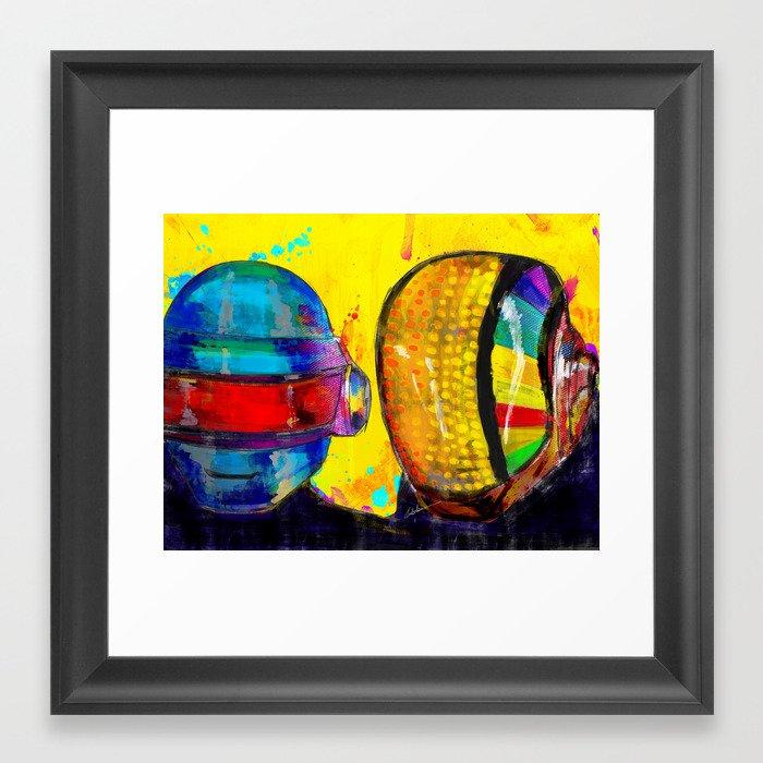 Daft Punk Framed Art Print by archann | Society6