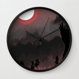 Hunters Moon/Dark Forest Wall Clock