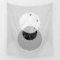 minimalism Wall Tapestries featuring Minimalism 9 by Mareike Böhmer