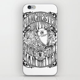Manchester United Calligraphy and Doodles art iPhone Skin