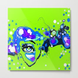I Thought I Saw An Eye Floating in a Lime Green Sky Metal Print