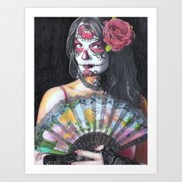 Sugar Skull Woman Art Print