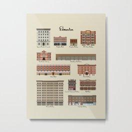 Edmonton Historical Buildings Metal Print