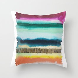 Color Me Hapy series Throw Pillow