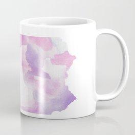 Watercolor State Map - Pennsylvania PA purples Coffee Mug