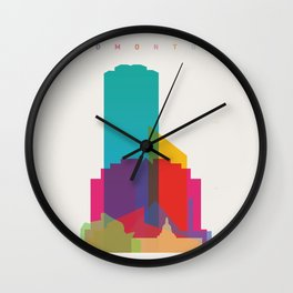 Shapes of Edmonton Wall Clock