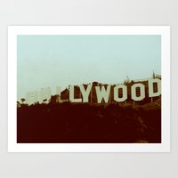 hollywood Art Prints featuring Hollywood  by Madison Daniels