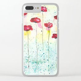 Poppies fantasy Clear iPhone Case