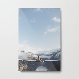 Austria Suspension Bridge Metal Print