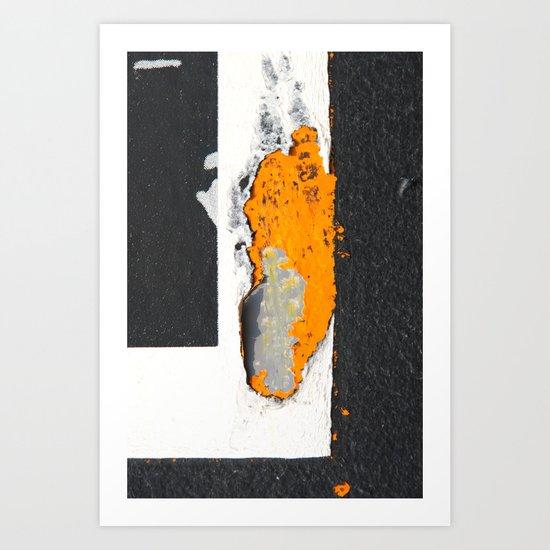 Scrap Art Print