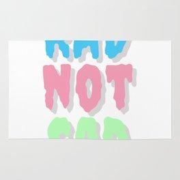 Rad not sad pastel cr Rug