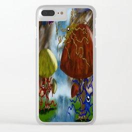 Hidden Waterfall Clear iPhone Case
