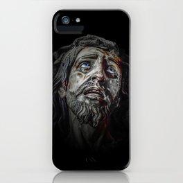 Jesuschrist Face Dark Poster iPhone Case