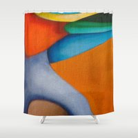 literary Shower Curtains featuring No Meio do Caminho (In The Middle Of The Road) by Fernando Vieira