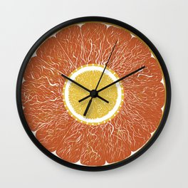 it's all about the citrus Wall Clock