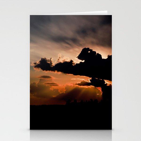 summer sunset Stationery Cards