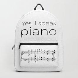 I speak piano Backpack