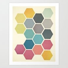 Honeycomb II Art Print