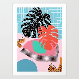 Memphis Palm Art Print