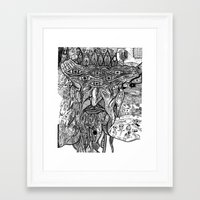 devil Framed Art Prints featuring Devil by Sarah Bush