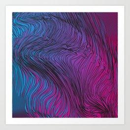 ColorWaves Art Print