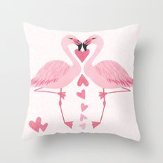 Flamingo Love. Throw Pillow