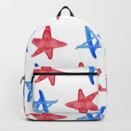 Red and Blue Stars Backpack