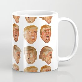 Fake News Faces of Donald Trump Coffee Mug