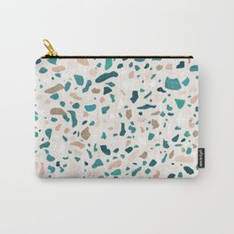 Terrazzo Turquoise Pattern Carry-All Pouch