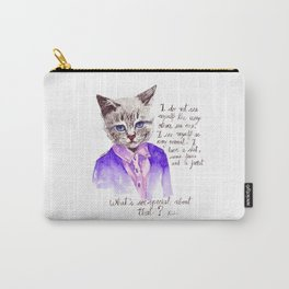 Fashion Mr. Cat Karl Lagerfeld and Chanel Carry-All Pouch