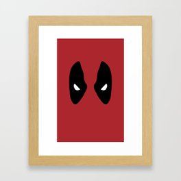 Deadpool Mask Framed Art Print