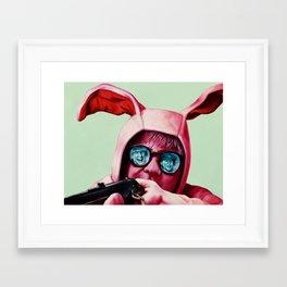 I'll shoot your eyes out Framed Art Print