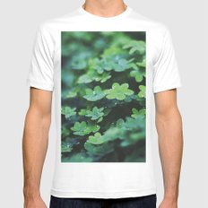 Clovers MEDIUM Mens Fitted Tee White