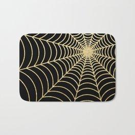 Spiderweb   Gold Glitter Bath Mat