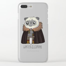 winter Is puging Clear iPhone Case